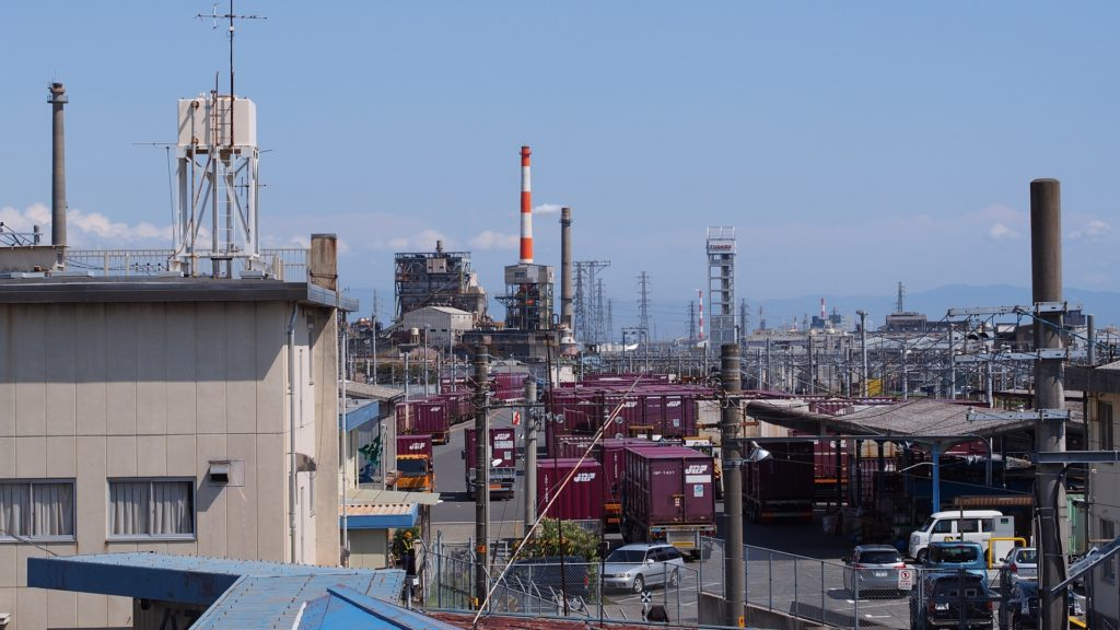 富士の製紙工場